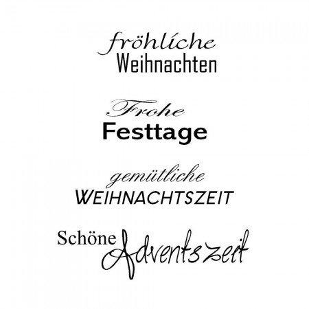 Stempel Weihnachten, Text in deutsch, Basteln für Weihnachten - Ihr ...
