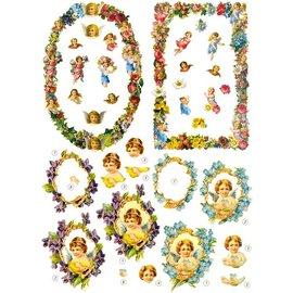 Bilder, 3D Bilder und ausgestanzte Teile usw... Die folha solta: anjo e moldura decorativa