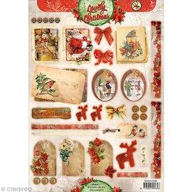 Bilder, 3D Bilder und ausgestanzte Teile usw... Stanzbogen: Vintage Weihnachten
