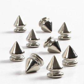 Embellishments / Verzierungen 8 Mini Füsschen, D: 8 mm, 10 mm alt