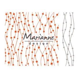 Marianne Design pastas de gravação + perfuração modelo com estrelas