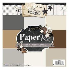 DESIGNER BLÖCKE / DESIGNER PAPER Designerblock 15,5 x 15,5cm: Frozen Forest