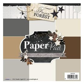 DESIGNER BLÖCKE / DESIGNER PAPER Designersblock 15,5 x 15,5 cm: Frozen Forest