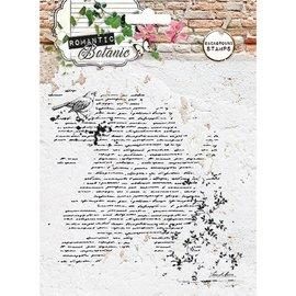 Studio Light Transparente / Clear Stamp: Botanic romântico com Script