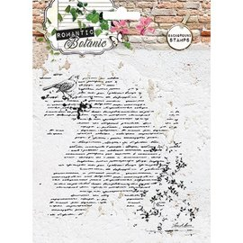 Studio Light Trasparente / Clear Stamp: botanico romantica con Script