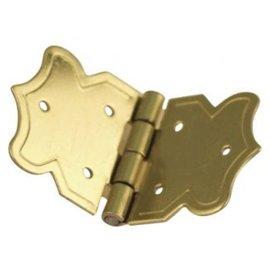 Embellishments / Verzierungen Ornamental dobradiças ouro, tamanho: 20x37 mm, 4 peças