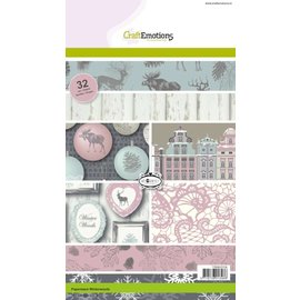 Karten und Scrapbooking Papier, Papier blöcke Designersblock, A5, Bois d'hiver