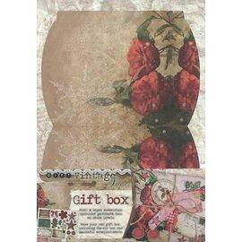BASTELSETS / CRAFT KITS Die cut ark, A4, herunder til design af en gaveæske. Dekorationer