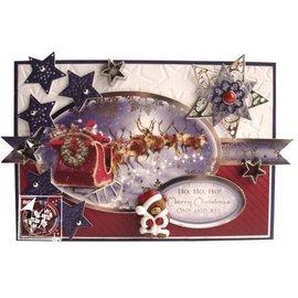 BASTELSETS / CRAFT KITS conjunto die glorioso, para a concepção de vários cartões de Natal + 2 bilhetes + adesivas almofadas + carros