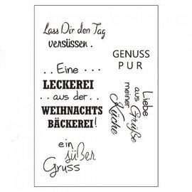Stempel / Stamp: Transparent Gennemsigtig / Clear Text Stempel: tysk tekst  - Copy - Copy