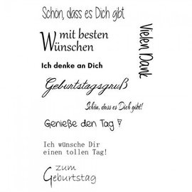 Stempel / Stamp: Transparent Timbre de texte transparent en allemand