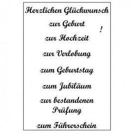 Stempel / Stamp: Transparent Transparent text stamp in german