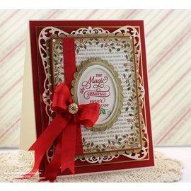 """STEMPEL / STAMP: GUMMI / RUBBER 10% DI SCONTO! Timbro di gomma: Natale cornice decorativa """"Holly Frame"""" - SOLO 2 ancora disponibile!"""