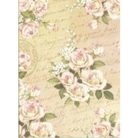 Designer Papier Scrapbooking: 30,5 x 30,5 cm Papier Designer papir, 30,5 x 30,5 cm, romantisk Rose Design