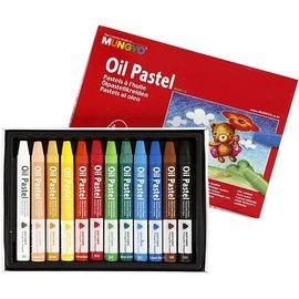 FARBE / STEMPELINK MUNGYO Oil Pastel, tykkelse 10 mm, L: 7 cm, 12 farver
