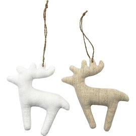 BASTELSETS / CRAFT KITS figure tessili, formato 11x11,5 cm, spessore: 2 cm, renna