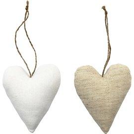 BASTELSETS / CRAFT KITS Tekstilvarer tal, størrelse 8x9,5 cm, tykkelse: 3 cm, hjerte