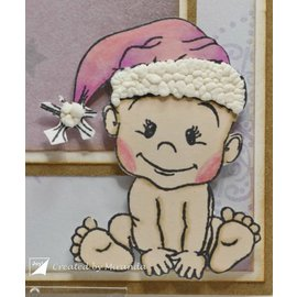 Stempel / Stamp: Transparent Transparent stamp: Baby and bear, Christmas bear