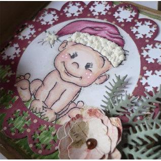 Stempel / Stamp: Transparent Gennemsigtig Stempel: Baby og Bamser, jul bjørne
