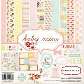 Carta Bella / Echo Park / Classica Designersblock: Baby Mine fille Collection Kit par Carta Bella