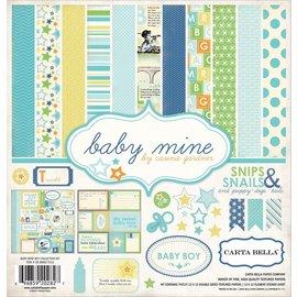 "Carta Bella / Echo Park / Classica Designersblock: Baby Mine ""Boy"" Collection Kit fra Carta Bella"