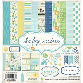 "Carta Bella und Echo Park Designersblock: Baby Mine ""Boy"" Collection Kit fra Carta Bella"