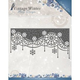 AMY DESIGN AMY DESIGN, skæring og prægning dør: Vintage Winter - Snowflake Swirl Edge