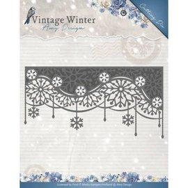 AMY DESIGN Stanz- und Prägeschablonen: Vintage Winter - Snowflake Swirl Edge