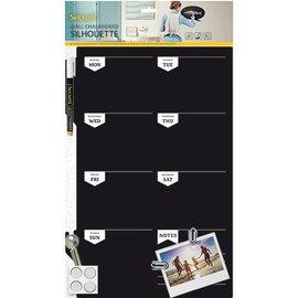 BASTELSETS / CRAFT KITS En stor kreativ Chalkboard ugentlig planner, størrelse: 30 x 45 cm!