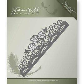 JEANINES ART (NEU) Stanz- und Prägeschablonen: Rand mit Rosen