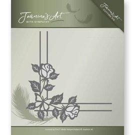 JEANINES ART (NEU) Stanz- und Prägeschablonen: Rose Ecke