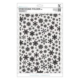 embossing Präge Folder A4 embossing Folder with snowflakes