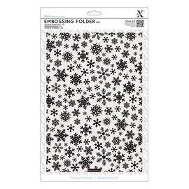 embossing Präge Folder Pasta em relevo A4 com flocos de neve