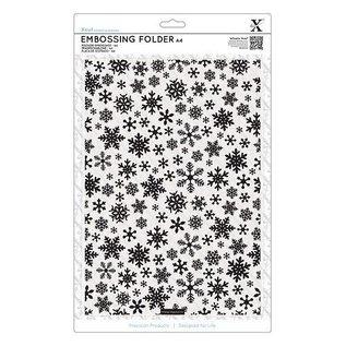 embossing Präge Folder A4 Prägeschablone mit Schneeflocken