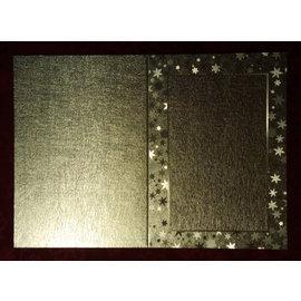 KARTEN und Zubehör / Cards Doppelkarten 'i stor metallisk effekt med stjerner