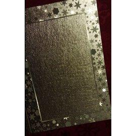 KARTEN und Zubehör / Cards Doppelkarten in tollen metallic Effekt mit Sternen