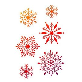 Dutch DooBaDoo Universal template A4, snowflakes