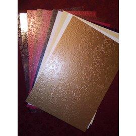 """Karten und Scrapbooking Papier, Papier blöcke em forma de leque de papelão """"Rose papelão"""""""