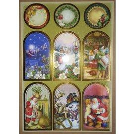Sticker folha da etiqueta com grandes fotos de Natal!