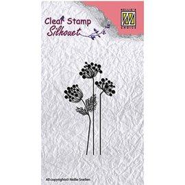 Nellie Snellen Design Selo: SILHOUET Flores, tamanho: 85 x 36 mm