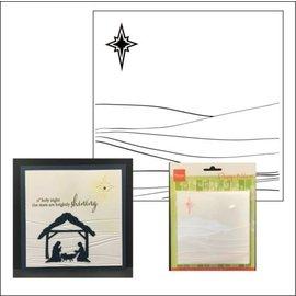 Marianne Design Embossing Folder, vinterlandskab