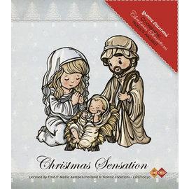 Stempel / Stamp: Transparent Gennemsigtig Stempel: Jesus Maria og Josef
