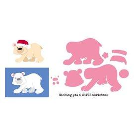 Marianne Design Corte morre: Urso polar de Eline