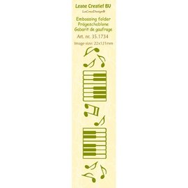 Leane Creatief - Lea'bilities Embossing Folder, størrelse 24 x 122 cm