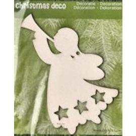 Holz, MDF, Pappe, Objekten zum Dekorieren Décorations de Noël en bois: 1 Ange de Noël