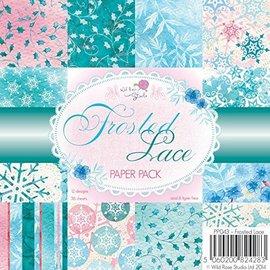 DESIGNER BLÖCKE / DESIGNER PAPER papel Designer, 15,5 x 15,5 cm, geada do laço - apenas um disponível!