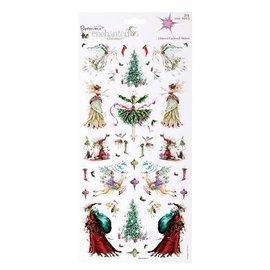 Sticker 2 ark 30 med julen design med glitter klistermærker