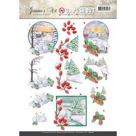 Bilder, 3D Bilder und ausgestanzte Teile usw... Een schitterende pre-cut 3D-sheet Kerstmis Classic.