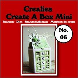 Crealies und CraftEmotions Matrizes de corte, tamanho da caixa de leite: 105x125mm