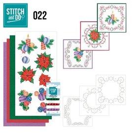 BASTELSETS / CRAFT KITS Bordürenset, Stitch en Do: Kerstmis